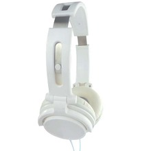 White Steel Headband Stereo Headphones Computer Headphones