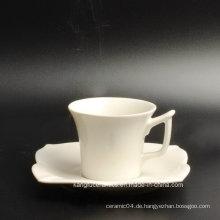 Spezielle Form Tasse und Untertasse Porzellan Tee-Set