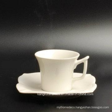 Special Shape Cup and Saucer Porcelain Tea Set