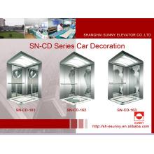 Decoración de la cabina del elevador con el panel de la aguafuerte (SN-CD-161)