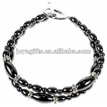 Bracelet en perles de riz avec hématite à la mode