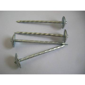 Large Round Head Smoothshank Sharp Roofing Coil Nail
