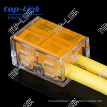 Разъем электрического клеммного блока с 2-проводниковыми контактами