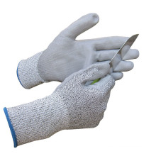 PU Coated Cutting Protective Cut Resistant Gloves Construction
