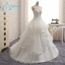 2017 Modern Custom Made Covered Button Wedding Dress Bridal