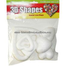 (diseño del corazón) molde de poliestireno 3D