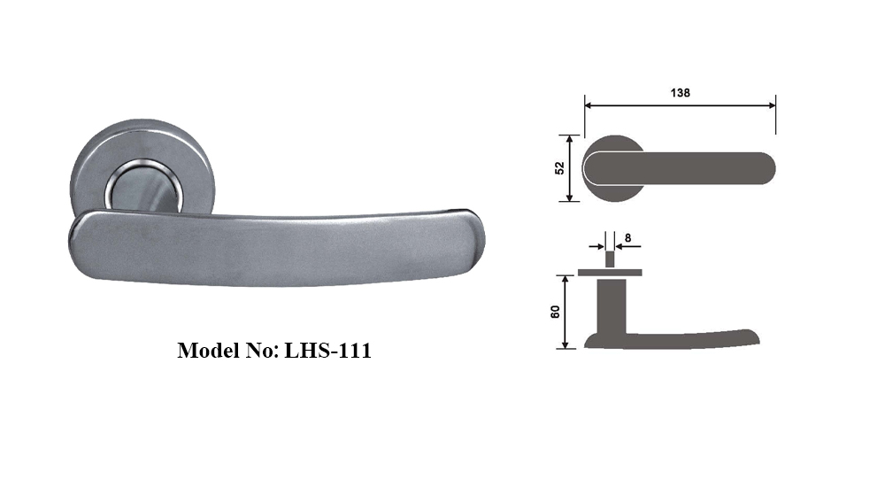 Door Hardwares Solid Casting Lever Handles with Spindle