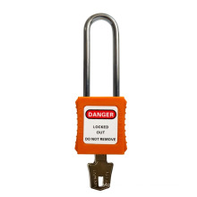 CE certificated long shackle plastic safety padlock