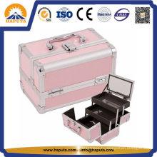 Cas de cosmétiques en aluminium coloré pour les maquilleurs (HB-2033)