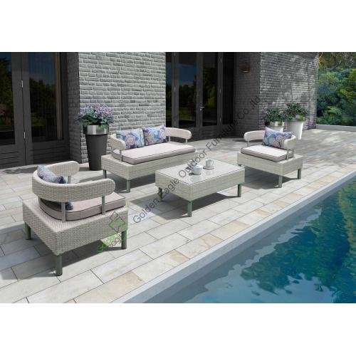 RATTAN GARDEN FURNITURE CANAPÉ TABLE CHAISES