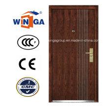Porta blindada de folheado de madeira MDF de metal Europ Security (W-A4)