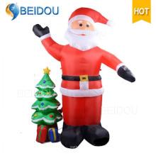 Decoración de Navidad inflable gigante Santa Navidad inflable Santa Claus