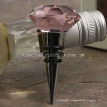 Wedding Favors Pink Crystal Diamond Wine Stopper