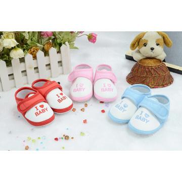 Chaussures de bébé en gros de coton de mode chaussures de sport chaussures de toile d'enfant