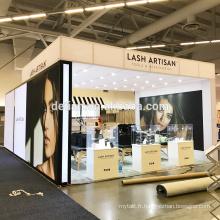 Detian Offre comestic grande taille en aluminium exposition stand matériel salon exposer stand extérieur et intérieur