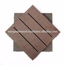 Holz-Kunststoff-Verbund-Deckfliesen Anti-Slip / wasserdicht / Hohe UV- und Farbstabilität / einfach zu installieren