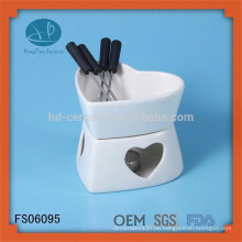 Gute Qualität schöne Form Schokolade Fondue Set mit Gabel, Käse Werkzeug Typ Fondue-Set, personalisierte Fondue-Set