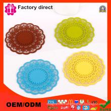 Round Flower Type Handmade Coffee Cup Mat Pad