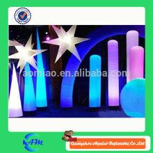 Inflável iluminação tubo inflável luz coluna cone inflável para publicidade