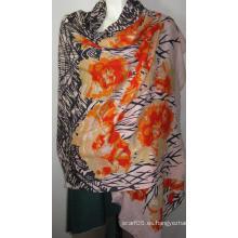 100% lana de paja de arenque Imprimir na naranja