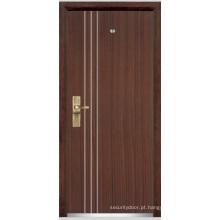 Porta blindada de madeira de aço / porta blindada de madeira de aço (YF-G9010)