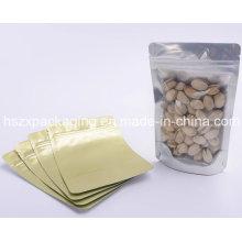 Design personalizado impresso plástico saco de embalagem de alimentos com janela clara