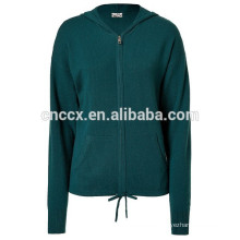 15STC6807 kangaroo pocket cashmere hoodie sweater