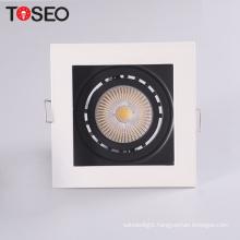 Adjustable die-casting aluminium square cut 92mm 10W led recessed downlight