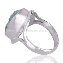 Meilleur prix de gros Aquamarine Gemstone 925 Sterling Silver Ring Jewelry