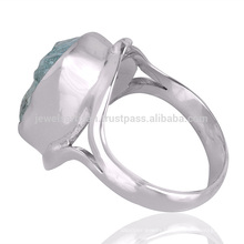 Best Wholesale Price Aquamarine Gemstone 925 Sterling Silver Ring Jewelry