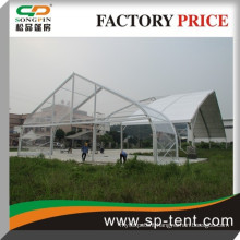 300 people's Guangzhou Clear Curve Tent for wedding party in alloy structure 20x25m tent made in china