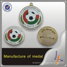 Medalla de fútbol de encargo del fabricante de China Oman