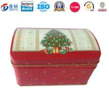 Rectangle Christmas Design Geld sparen Tin Box