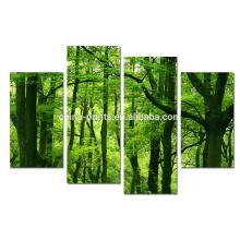 Impresión de la lona del bosque del verano / arte de la impresión del cuadro del paisaje / arte moderno de la pared