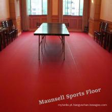 Os esportes internos baratos de alta qualidade do PVC do certificado de Ittf rolam o assoalho / esteira para a espessura do tênis de mesa 4.5mm