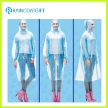 Unisex Free Size Einweg-Clear PE Regen Ponchos