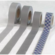 fita de poliéster reflexiva costurada em fita de tecido reflexivo para roupas de segurança
