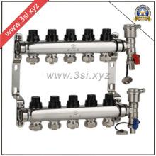 Hot Sale 5 façons de séparateur d'eau de chauffage au sol avec jauge (YZF-M809)