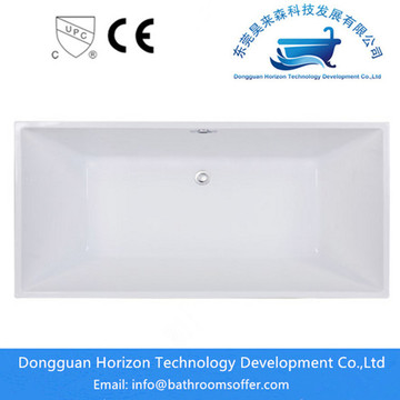Hotel freestanding square bathtub