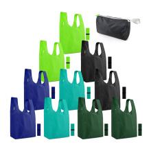 Fashion cheap promotional eco friendly waterproof 210D nylon polyester animal foldable shopping bag