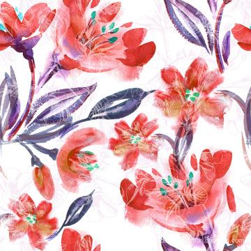 Orange Flower Printing Stoff für Bademode (ASQ083)