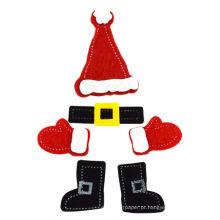 Adesivos de feltro de Natal acessórios de artesanato de bricolage, presente e artesanato para crianças, artesanais didáticos artesanato de Natal artesanato criativo