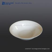 Reine weiße Bone China Salat Schüssel für Restaurant Cafe wiederverwendbar