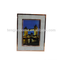 frames for pictures white mother of pearl shell with golden edge