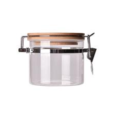Cheap custom logo glass salt jar spigot with clip lids glass jars for pickle