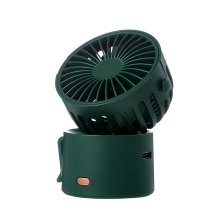 Rechargeable Battery Operated USB Mini Fan Electric Cooling Air Fan Desktop Stand Rotation Portable Handheld Small Compact Fan