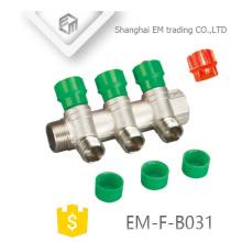 EM-F-B031 Manifold en laiton nickelé de haute qualité à 3 voies