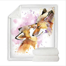 Super Soft Flannel Feelce Cover Blanket Bedding Set for Baby with 3D Digital Printing Fox