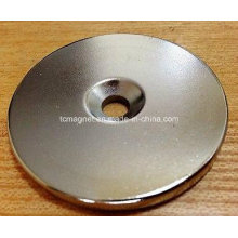 N52 Disc 50mm*5mm Counterbore Hole Neodymium Permanent Magnets