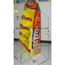 Soporte de exhibición del papel del caramelo, soporte de exhibición de piso de la cartulina de los caramelos (B & C-A079)